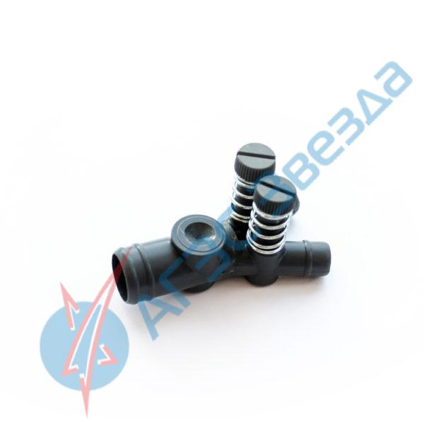 Дозатор подвода газа 19х12х12 с 2 регуляторами