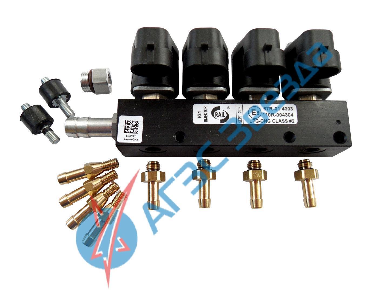 Рампа форсунок Rail IG1 4 цилиндра 2Ом