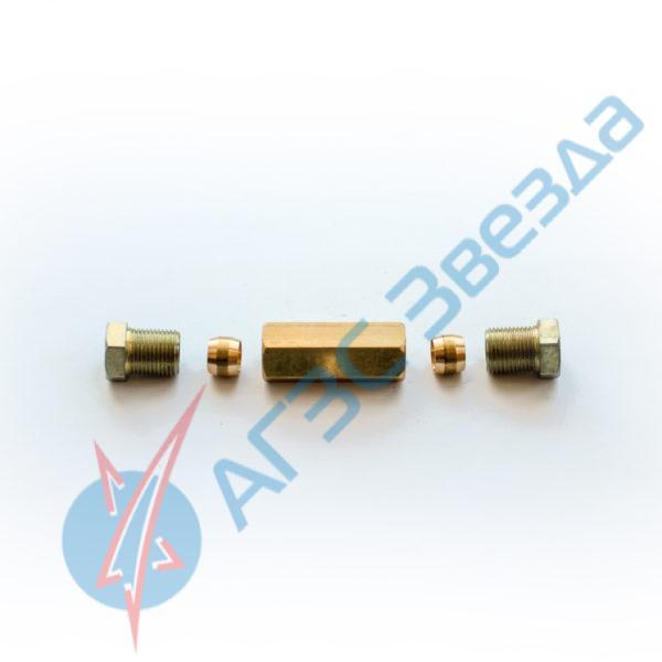 Удлинитель трубки 8х8 латунный